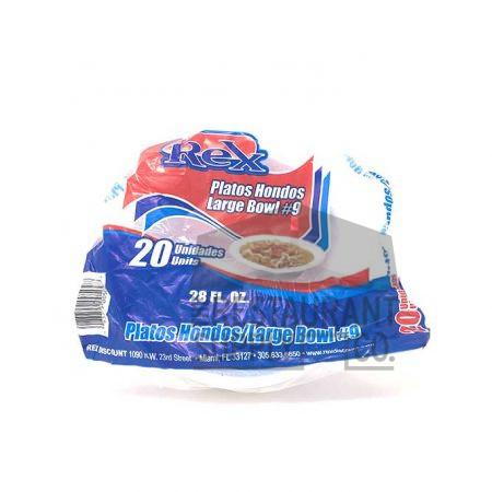 Rex 28oz Foam Bowls 20ct