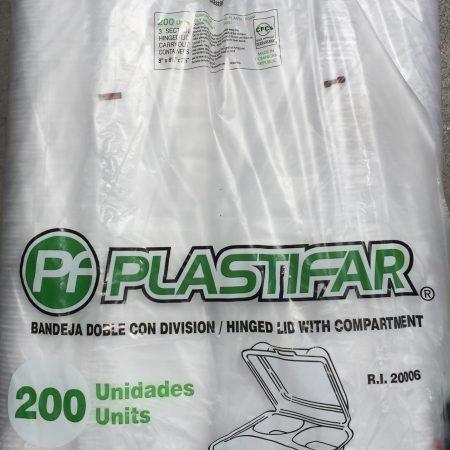 Plastifar 8X8 Foam Containers 100ct
