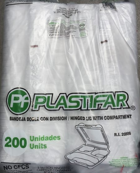 Plastifar 8X8 Foam Containers 100ct