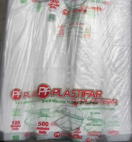Plastifar 6X6 Foam Trays 125ct