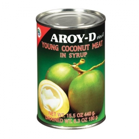 Aroy-D Coconut Meat in syrup 15oz