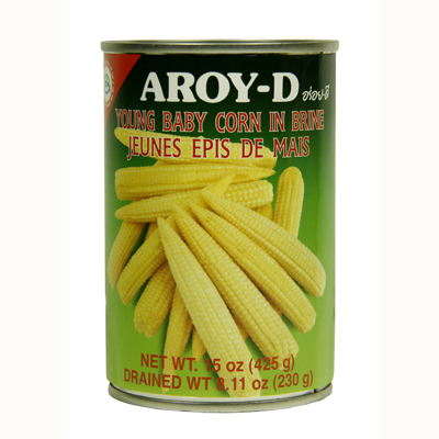 Aroy-D Young Baby Corn In Brine 15oz