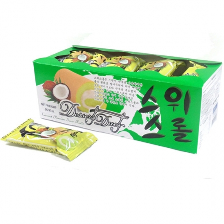 Edo Swiss Roll Pandan Flavor 24pcs