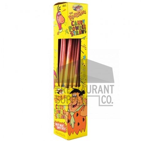 Flintstones Giant Candy Straws 48ct