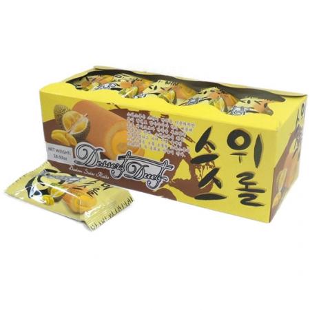 Edo Swiss Roll Durian Flavor 24pcs