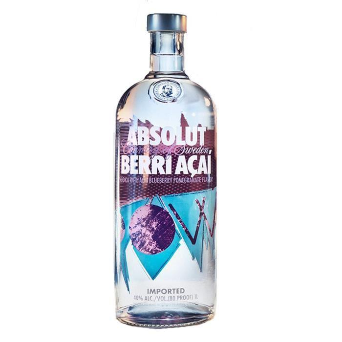 Absolut Berri Acai Vodka Liter