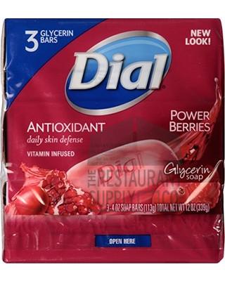 Dial Power Berries Bar Soap 4oz 3pk
