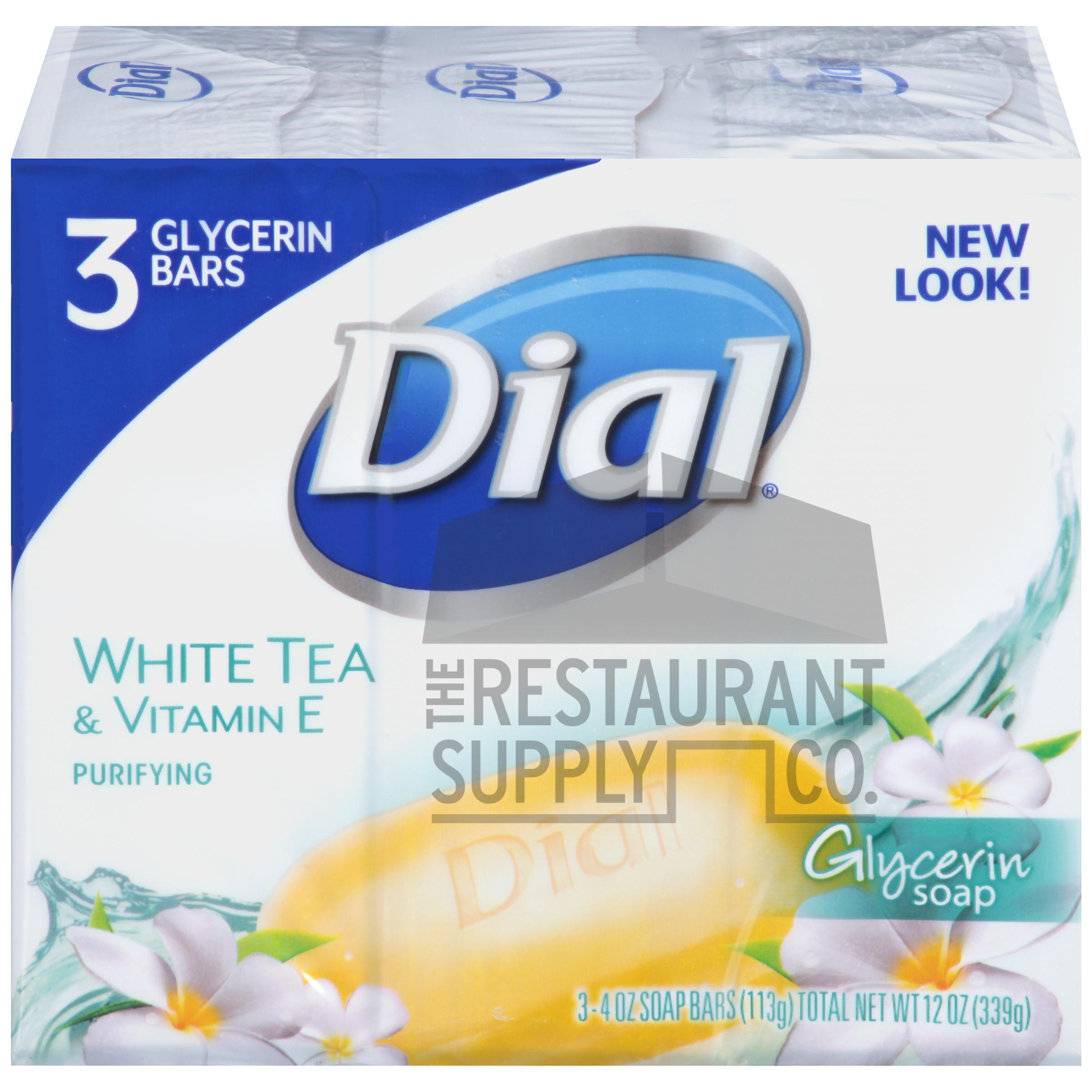 Dial White Tea & Vitamin E Bar Soap 4.5oz 3pk