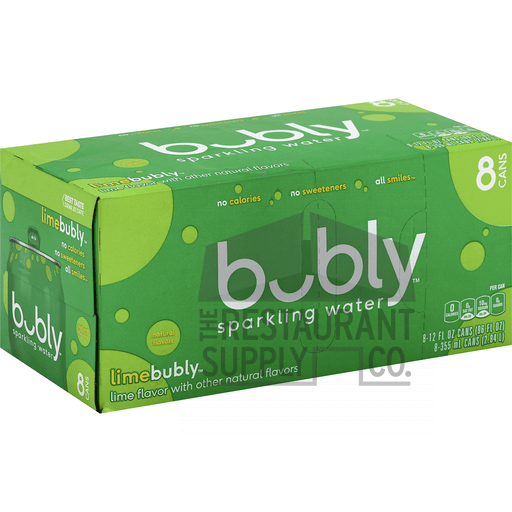Bubly Lime Flavor Sparkling Water 12oz 8pk