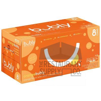 Bubly Orange Flavor Sparkling Water 12oz 8pk