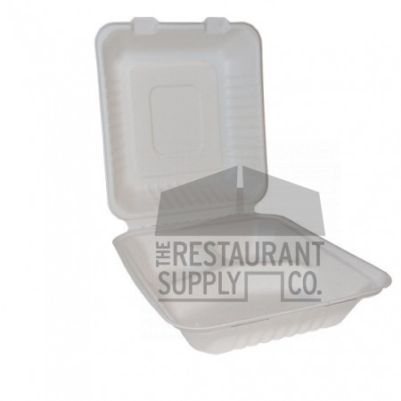 Compostable 8X8 3 Compartment 100ct