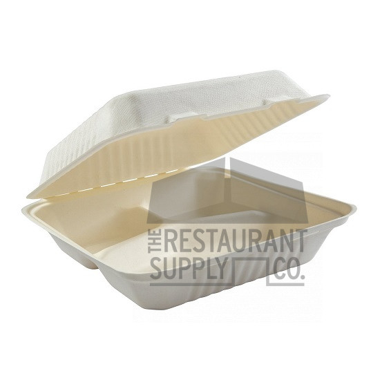 Compostable 9X9 3 Compartment 100ct